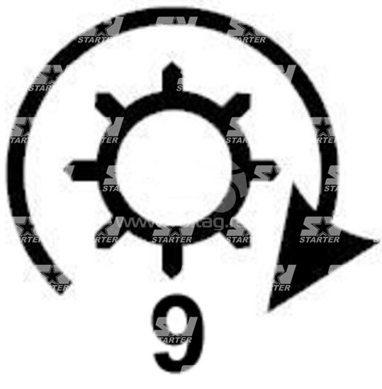 19024241 - CS289 - Стартер REMY (DELCO)